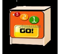 Тумбочка детская «Лого» оранжевый