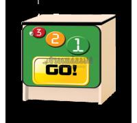 Тумбочка детская «Лого» зелёный