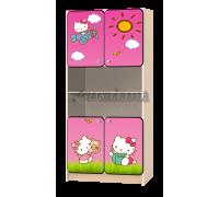Стеллаж детский «Китти Хэллоу» розовый