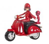 Фигурка Леди Баг со скутером 14 см