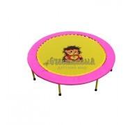 Складной мини-батут 40 Розово-желтый Диаметр 102 см