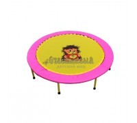 Складной мини-батут 54 Розово-желтый Диаметр 138 см