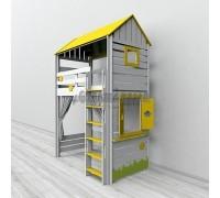 Кровать-чердак детская игровая Домик, Бэби-Мебель