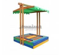 Песочница деревянная цветная №10