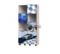 Carobus стеллаж с выкатными ящиками - БиЭм  синий