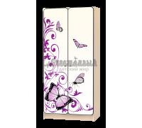 Шкаф детский «Бабочка» белый