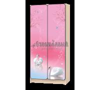 Carobus шкаф детский Лебеди розовый