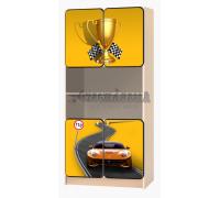Carobus стеллаж распашной - Лого желтый