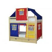 Детские двухъярусные кровати-домики игровые