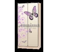 Шкаф детский «Бабочка» бежевый