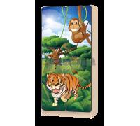 Шкаф детский «Африка - Тигр» зелёный
