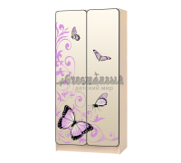 Шкаф детский «Бабочка-2» бежевый