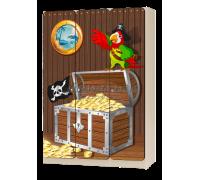 Шкаф детский трёхстворчатый «Пират» коричневый