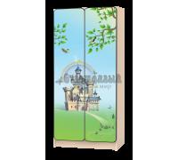 Шкаф детский «Принцесса» зелёный