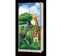 Шкаф детский «Африка - жираф» зелёный