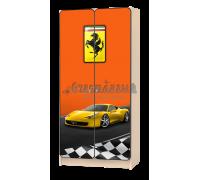 Шкаф детский «Лого» оранжевый