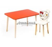 Комплект детской мебели Джери с ванильным стульчиком