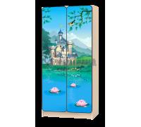 Шкаф детский «Принцесса» голубой