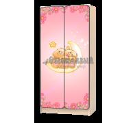 Шкаф детский «Мишки» розовый