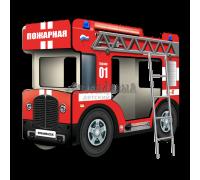 """Двухъярусная кровать-Автобус СлипинБас """"Пожарный"""""""