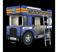 """Двухъярусная кровать-Автобус СлипинБас """"МЧС"""" синий"""