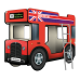 """Двухъярусная кровать-Автобус СлипинБас """"Лондон"""" красный, Carobus"""