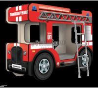 """Двухъярусная кровать-Автобус ОмниБус """"Пожарный"""", Carobus"""