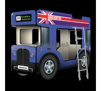 """Двухъярусная кровать-Автобус СлипинБас """"Лондон"""" синий"""