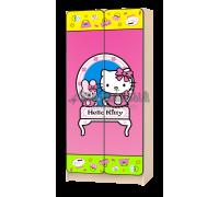 Шкаф детский «Китти» розовый