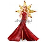 Barbie Кукла Праздничная в красном платье блондинка, Mattel