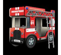 """Двухъярусная кровать-Автобус МикроБас """"Пожарный"""""""