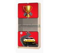 Carobus стеллаж распашной - Лого красный