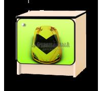 Тумбочка детская «Ламбо-капот» зелёный