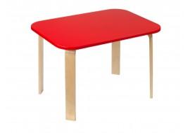 Детский столик Мордочки красный
