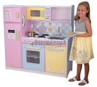 """Большая детская кухня из дерева """"Пастель"""" (Large Pastel Kitchen), KidKraft"""