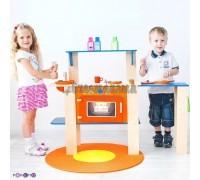 """Деревянная кухня-трансформер для детей """"Гавайский микс"""" с 16 аксессуарами, PAREMO"""