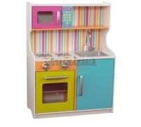 """Деревянная игровая кухня для девочек """"Делюкс Мини"""" (Bright Toddler Kitchen), KidKraft"""