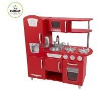 """Игрушка кухня из дерева """"Винтаж"""", цвет Красный (Red Vintage Kitchen), KidKraft"""