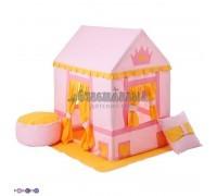 """Текстильный домик-палатка с пуфиком для девочек """"Дворец Три Короны"""", PAREMO"""