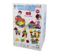 4707, Конструктор Геометрическе фигуры 60 штук, 3234plsn, 12560ք, 4707-01, PILSAN, Конструктор для детей