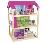 Кукольный домик для Барби - Самый роскошный So Chic с мебелью 45 элементов на колесиках