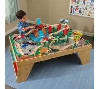 "Игровой набор ""ЖД станция"" (Waterfall Station Train Set & Table In Natural), KidKraft"