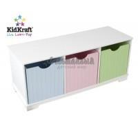 "Скамья с ящичками для хранения ""Storage Bench Pastel"", KidKraft"