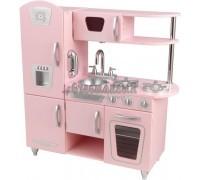 """Кухня детская из дерева """"Винтаж"""", цвет Розовый (Pink Vintage Kitchen), KidKraft"""