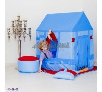 """Текстильный домик-палатка с пуфиком для мальчика """"Замок Бристоль"""", PAREMO"""