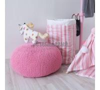 Вязаный пуф розовый, VamVigvam
