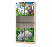 Стеллаж детский «Африка-носорог»