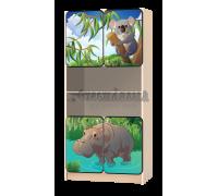 Стеллаж детский «Африка-бегемот»