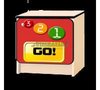 Тумбочка детская «Лого» красный
