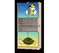 Стеллаж детский «Джунгли-2» жёлто-синий